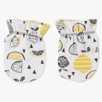 Juniors Printed Mittens with Elasticised Cuffs