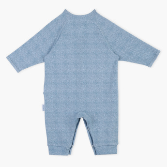 Juniors Pocket and Ruffle Detail Long Sleeves Sleepsuit