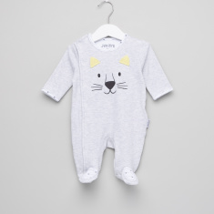 Juniors Melange Closed Feet Sleepsuit