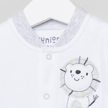 Juniors Applique Detail and Printed Sleepsuit