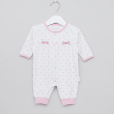Juniors Printed Sleepsuit with Button Closure