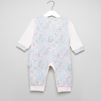Juniors Floral Printed Open Feet Sleepsuit