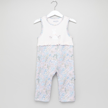 Juniors Printed Sleepsuit with T-Shirt
