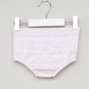 Juniors Lace Detail Briefs with Elasticised Waistband