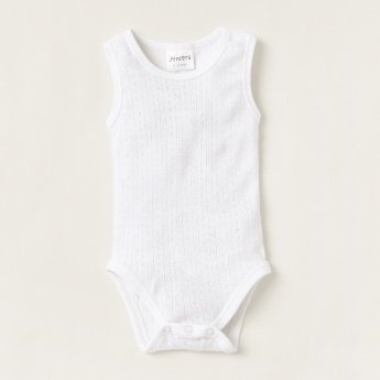 Juniors Bodysuit with Button Closure