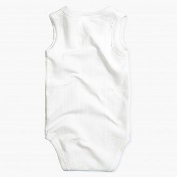 Juniors Sleeveless Round Neck Bodysuit