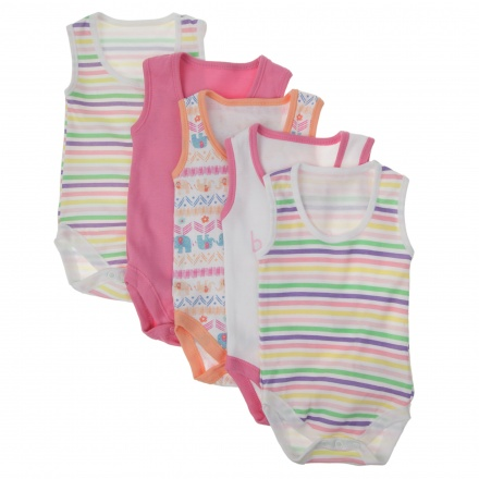 Juniors Sleeveless Bodysuits - Set of 5