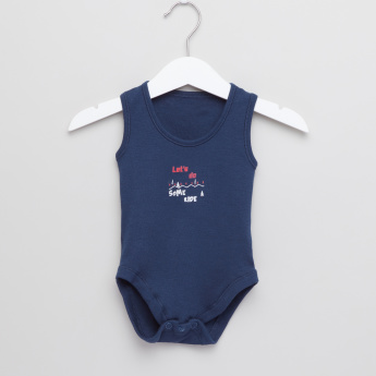 Juniors Printed Sleeveless Bodysuit - Set of 7
