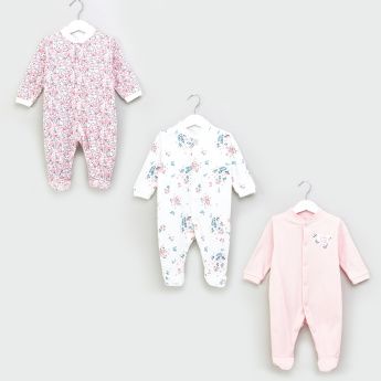 Juniors Long Sleeves Closed Feet Sleepsuit - Set of 3