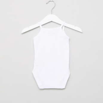 Giggles Sleeveless Cotton Strapy Bodysuit