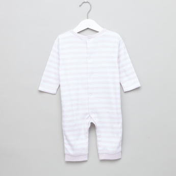 Juniors Striped Applique Detail Sleepsuit