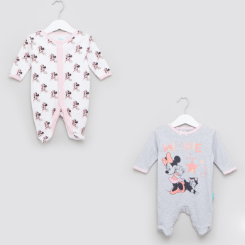 Minnie Mouse Printed Sleepsuits - Set of 2