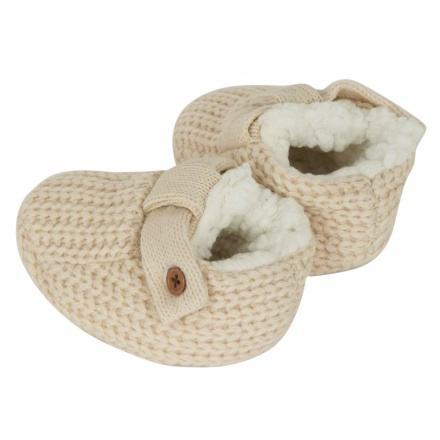 Juniors Knitted Fur Lined Booties