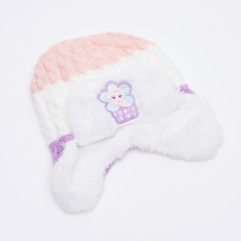 Frozen Embroidered Cap with Scarf