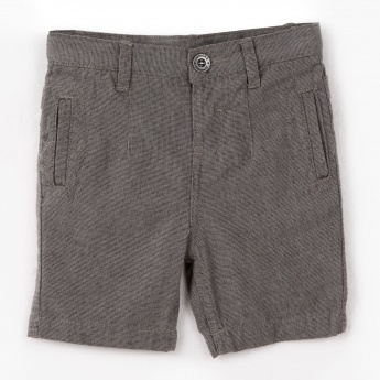 Juniors Textured Bermuda Shorts
