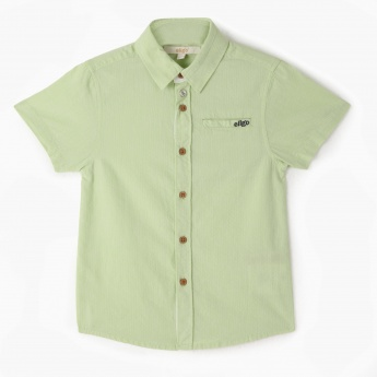 Eligo Casual Dobby Shirt with Short Sleeves