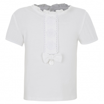 Giggles Short-sleeved T-shirt with Bow Accent