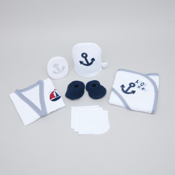 Juniors Embroidered 8-Piece Bath Gift Set