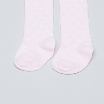 Juniors Printed Closed Feet Tights