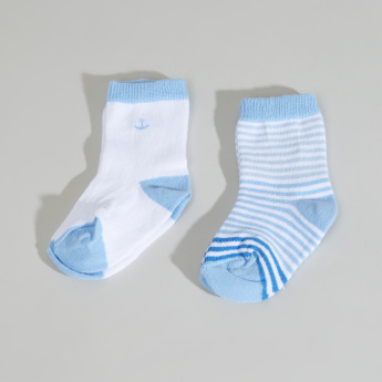 Juniors Ribbed Quarter Length Socks - Set of 2