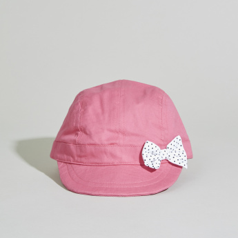 Juniors Cap with Bow Applique