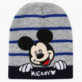 Mickey Mouse Embroidered Beanie Cap