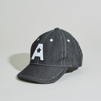 Juniors Embroidered Applique Cap with Elasticised Back