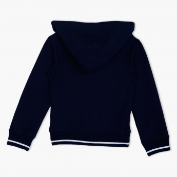 Juniors Full-sleeved Hooded Sweat Top