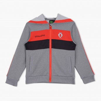 Juniors Striped Full-sleeved Sweat Top