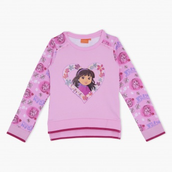 Dora the Explorer Printed Pullover