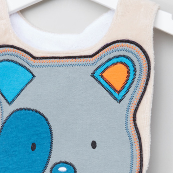 Juniors Applique Detail Bib with Hook and Loop Closure