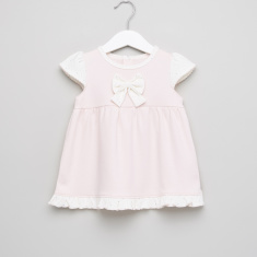 Juniors Bow Detail Cap Sleeves Dress