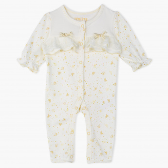 Juniors Printed Round Neck Sleepsuit