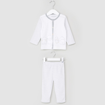 Juniors Striped Shirt and Pyjama Set