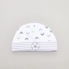 Juniors Printed Beanie Cap with Embroidered Detail
