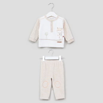 Juniors Long Sleeves T-Shirt and Pyjama Set