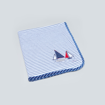 Juniors Striped Receiving Blanket - 71x86 cms