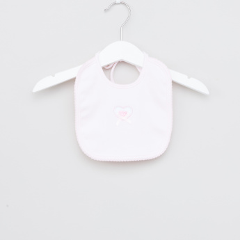 Juniors Heart Embroidered Bib