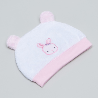 Juniors Beanie Cap with Plush Texture and Embroidery