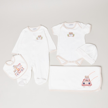 Juniors Embroidered 5-Piece Clothing Set