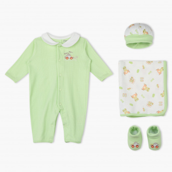 Juniors Printed Embroidered 4-Piece Gift Set