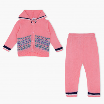 Juniors Woven Cardigan and Pyjama Set