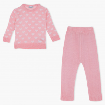 Juniors Round Neck Sweat Top and Pyjama Set