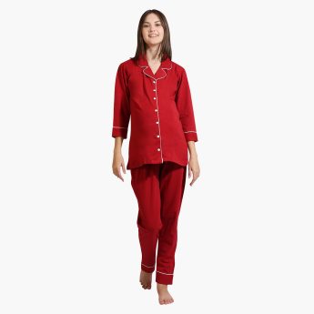 House of Napius Maternity Shirt and Pyjama Set