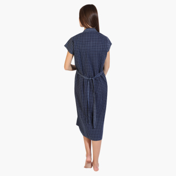 House of Napius Chequered Maternity Dress