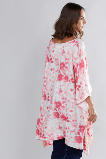 House of Napius Maternity Printed Kaftan with Boat Neck