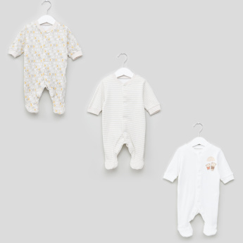 Juniors Assorted Long Sleeves Sleepsuit - Set of 3