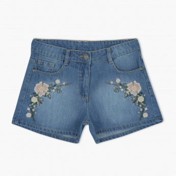 Posh Embroidered Shorts