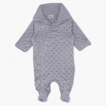 Juniors Textured Long Sleeves Sleepsuit