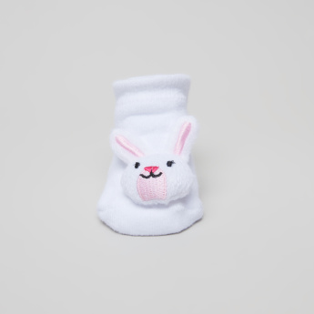 Juniors Bunny Applique Detail Socks